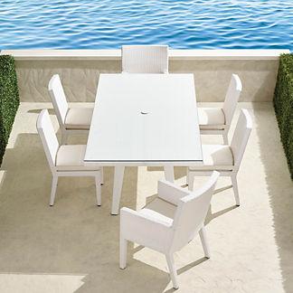 Palermo 7-pc. Rectangular Dining Set in White Finish