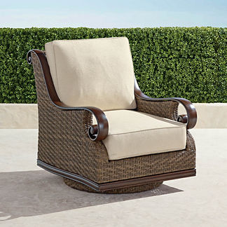 St. Martin Swivel Lounge Chair with Cushions, Special Order