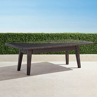Palermo Glass-overlay Dining Table in Bronze Finish