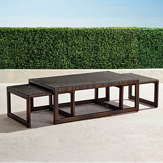 Palermo Set of Three Nesting Coffee Tables in Bronze Finish