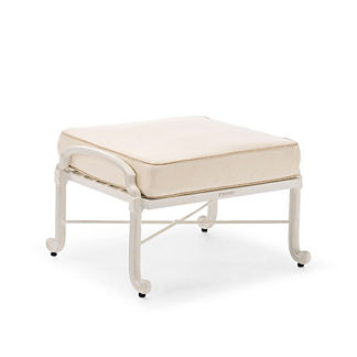 Carlisle Ottoman with Cushions in Parisian Ivory Finish