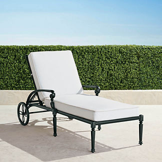 Carlisle Chaise Lounge with Cushions in Onyx Finish, Special Order