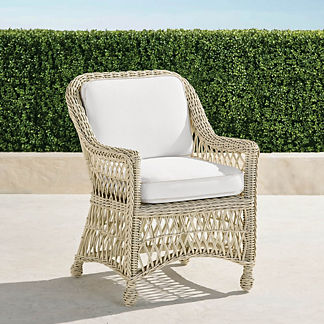 Hampton Set of Two Dining Chairs with Cushion in Ivory Finish, Special Order