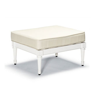 Glen Isle Ottoman with Cushion in White Finish, Special Order