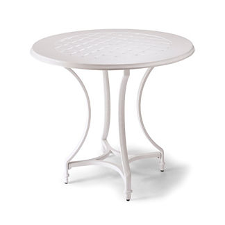 Grayson Round Bar Table in White Finish