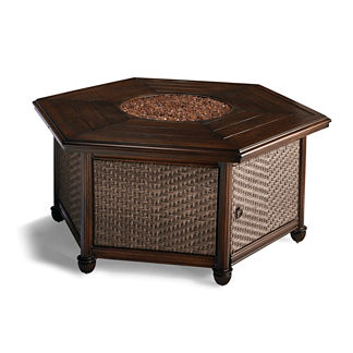 St. Martin Woven Fire Table