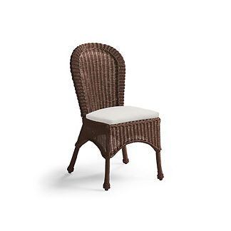 Set of Two Charleston Dining Side Chairs with Cushions in French Roast Finish, Special Order