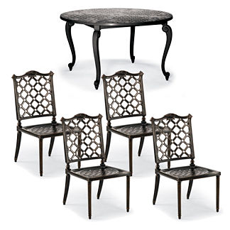 Glen Isle 5-pc. Round Dining Set in Midnight Gold Finish