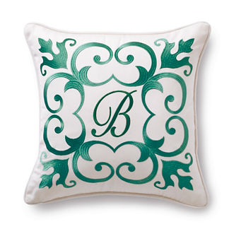 Garden Lattice Jade Outdoor Pillow