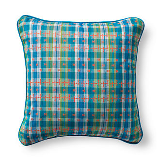 Cusco Plaid Tropical Outdoor Pillow