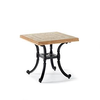 Carlisle Mosaic Stone-top Side Table in Onyx Finish