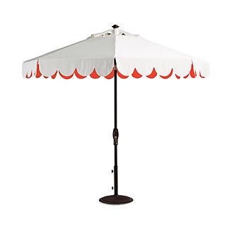 Seaside Scallop Peony Designer Umbrella