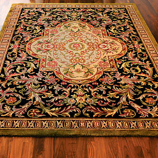 Persian Midnight Wool Area Rugs