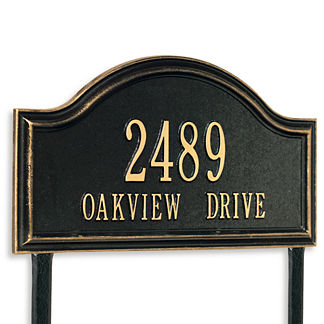 Oakview Estate Address Plaque