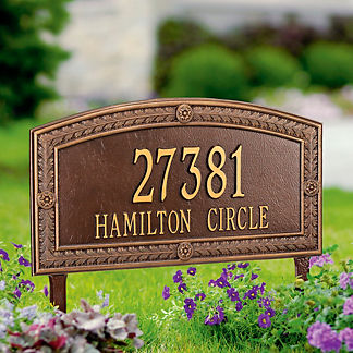 Hamilton Standard Address Plaque