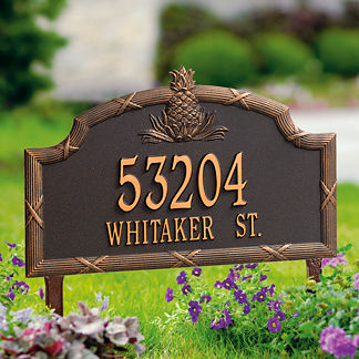 Standard Pineapple Address Plaque