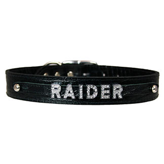 Croco Leather Slider Dog Collar