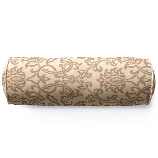 Outdoor Bolster Pillow in Sunbrella Oakdale Frame Linen