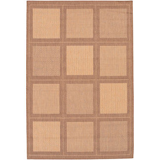 Summit All-weather Rugs in Natural/Cocoa