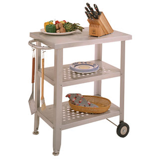 Stainless Steel Indoor or Outdoor Portable Prep Cart