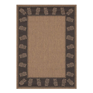 Oasis Retreat Outdoor Rug in Cocoa & Black