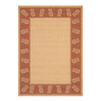 Oasis Retreat Outdoor Rug in Natural & Terra Cotta