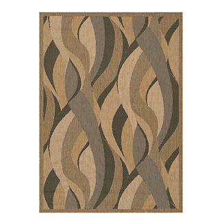 Seascape Outdoor Rug in Natural & Black