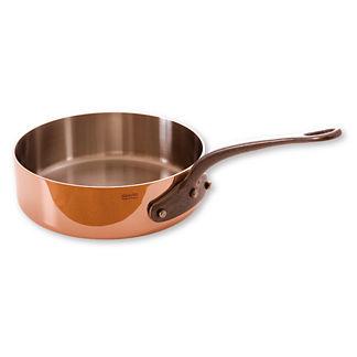 Mauviel 3-quart Copper Saute Pan with Lid