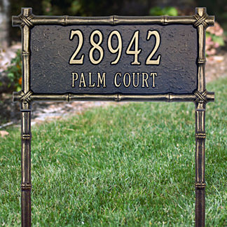 Bamboo Framed Address Plaque
