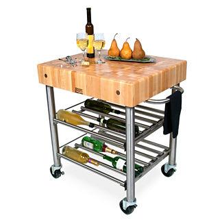 John Boos Wine Cart