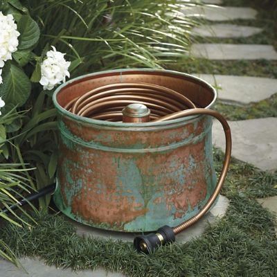 Patina Copper Hose Pot Frontgate