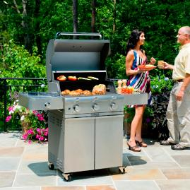 Saber 500 3-burner Gas Grill with Cast Stainless