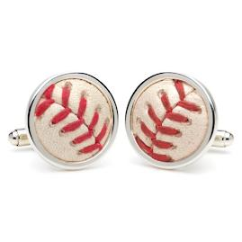 Game Played Baseball Cufflinks
