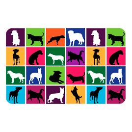 Dog Silhouettes Comfort Mat