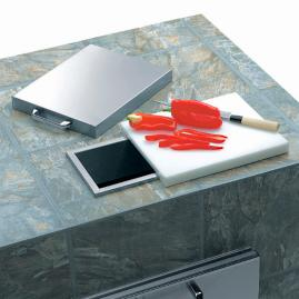 Lynx Countertop Trash Shute with Cutting Board and