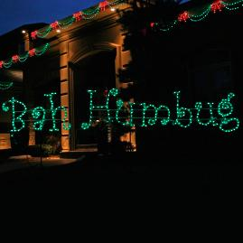 "Lighted ""Bah Humbug"" 12-ft. Sign"