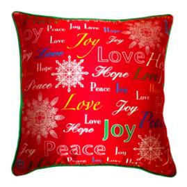 Joy, Hope & Love Throw Pillow
