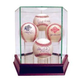 Glass Quad Baseball Display Case