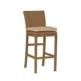 Rustic Bar Height Bar Stool with Cushion by