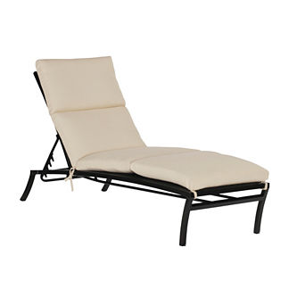 Black aluminum chaise lounge frontgate for Black metal chaise lounge