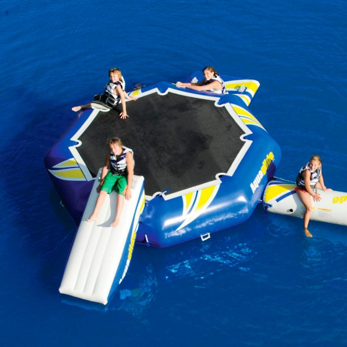 Inflatable rebound trampoline frontgate