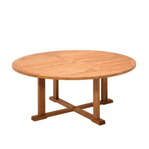Bristol Round Teak Dining Table. Bristol Teak Dining Collection by Gloster   Frontgate