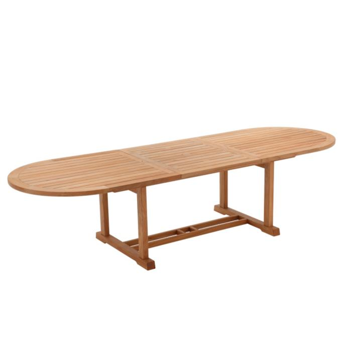 Bristol Large Oval Teak Extending Dining Table Frontgate