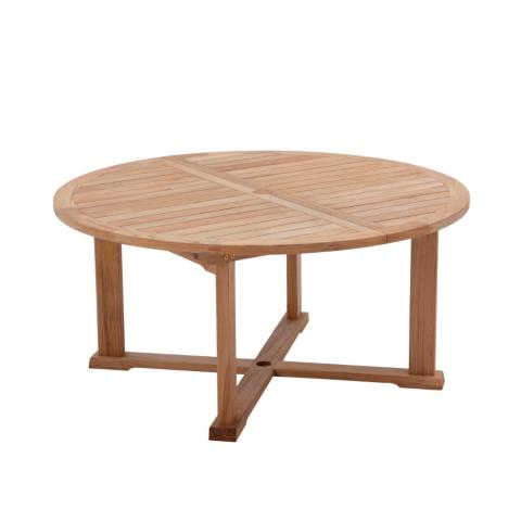 Bristol Round Teak Extending Dining Table by Gloster. Bristol Teak Dining Collection by Gloster   Frontgate