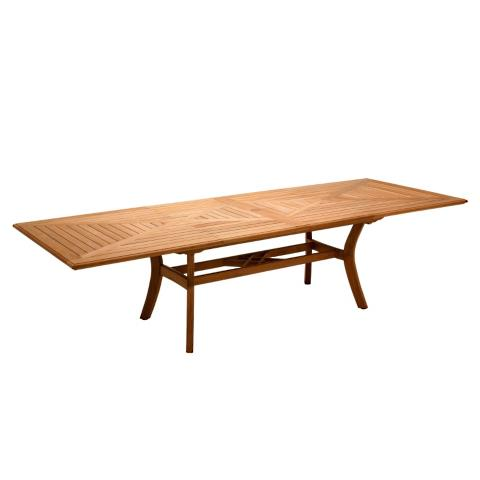 Halifax Teak Extending Dining Table By Gloster Frontgate