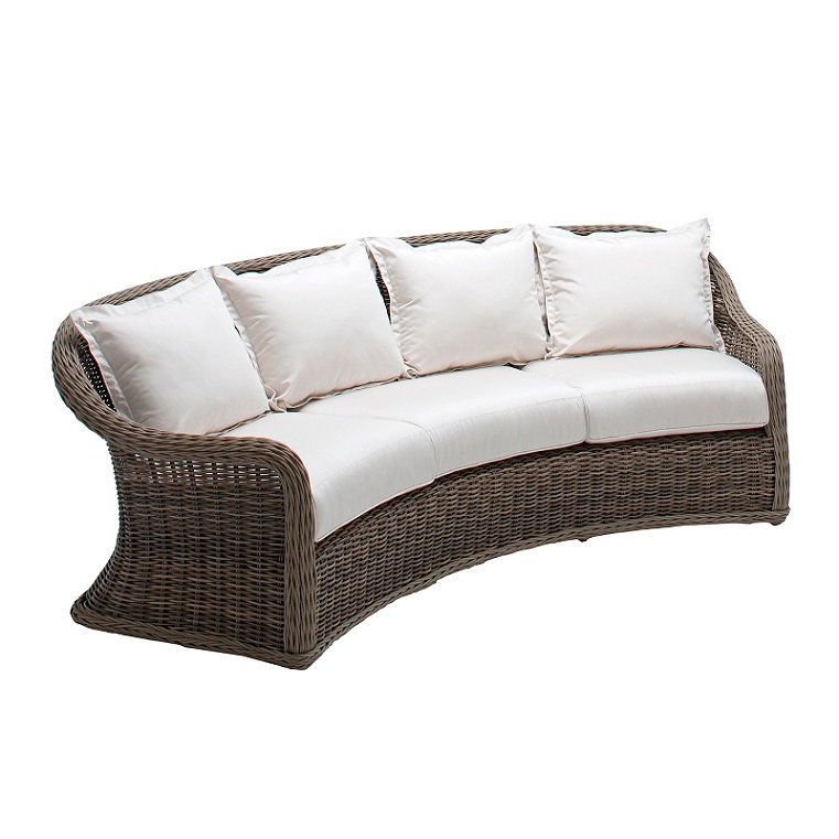 All Weather Wicker Curved Sofa Frontgate