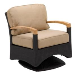 Plantation Swivel Glider Arm Chair with Cushions