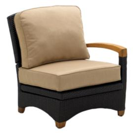 Plantation Reclining Left-end Chair with Cushions