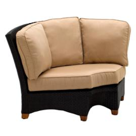 Plantation Sectional Corner Chair with Cushions
