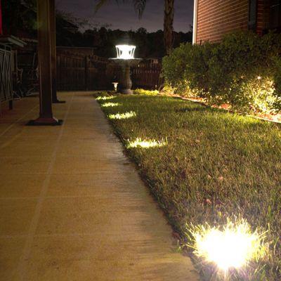 Solar Ground Deck Lights Frontgate